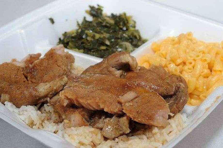 Pork chops at Jocie & Alberta's Soul Food Kitchen