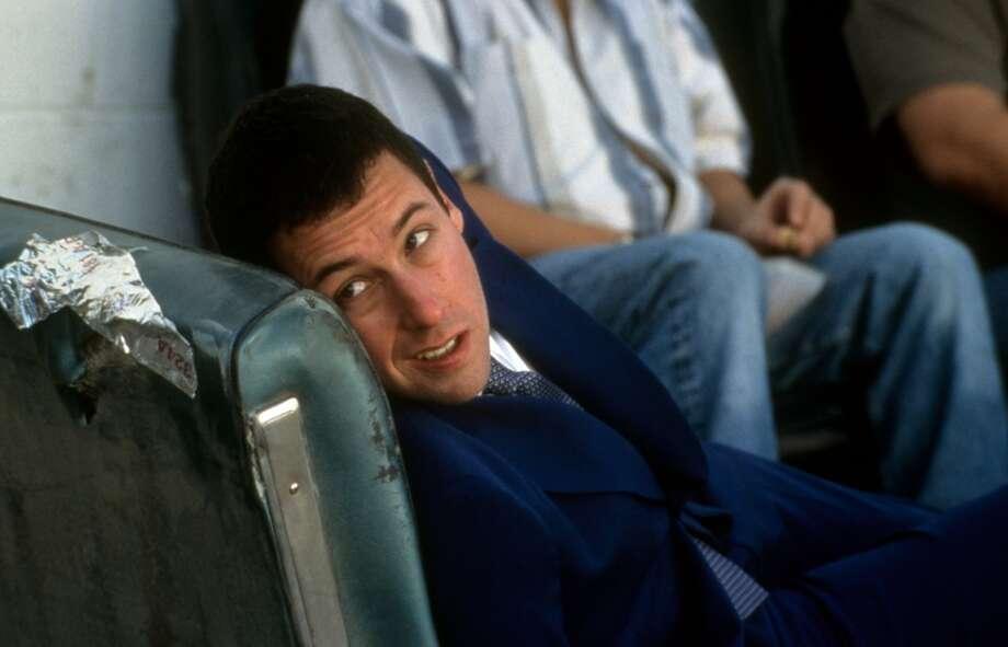 Adam Sandler in a scene from the film Punch-Drunk Love, 2002.