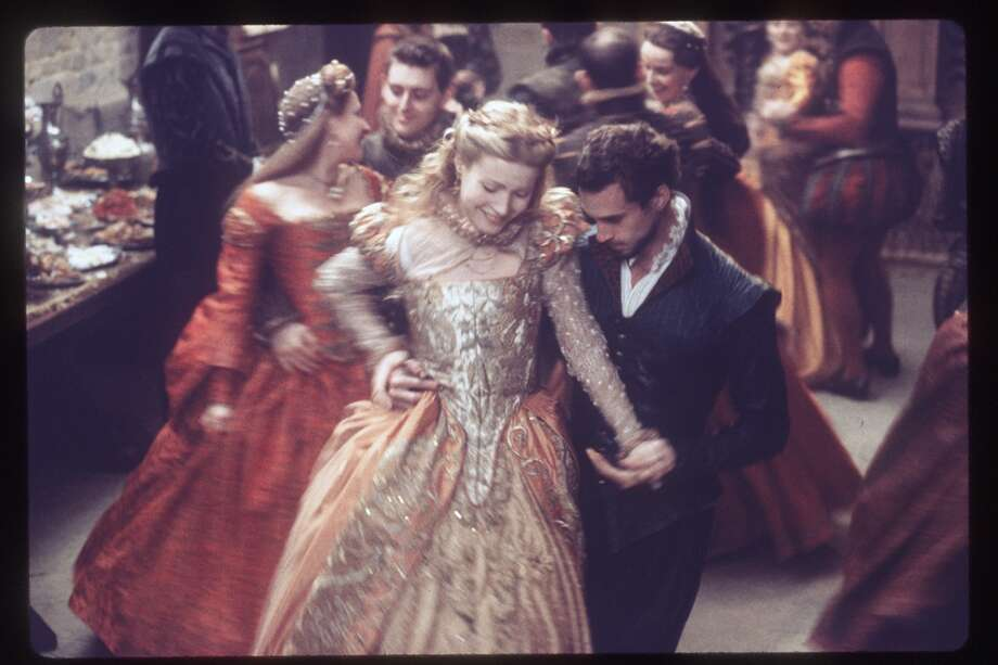 Gwyneth Paltrow and Joe Fiennes in Shakespeare in Love. People killing each other is OK as far as the MPAA is concerned, by a topless Gwyneth Paltrow is something children must never see.