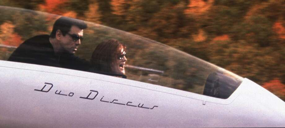 Actress Rene Russo and Pierce Brosnan in The Thomas Crown Affair.  Russo took her top off.  That was it.