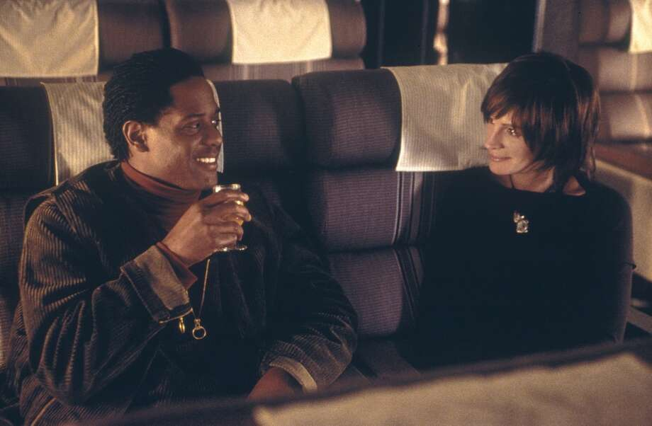 "Blair Underwood and Julia Roberts in Steven Soderbergh's ""Full Frontal."""