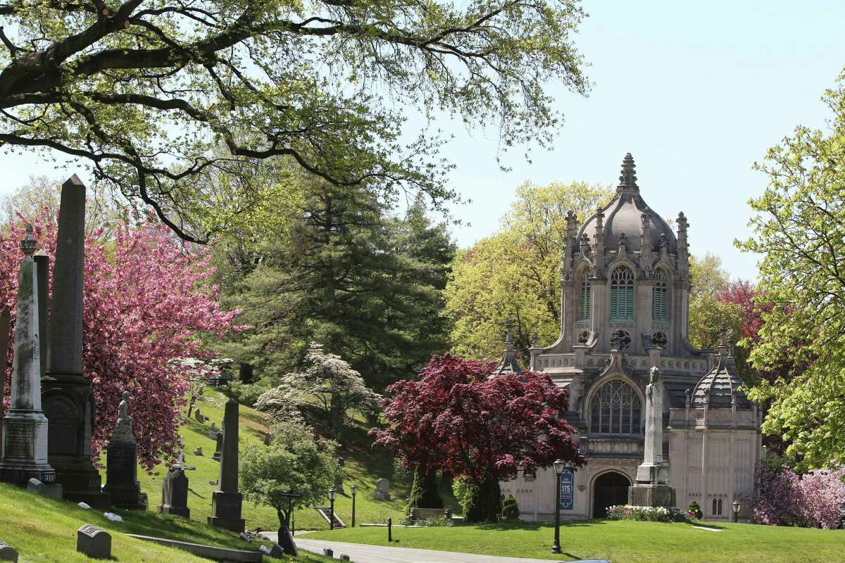 This May 2, 2013 photo shows the chapel at Brooklyn's Green-Wood Cemetery in New York. The 478-acre site is celebrating its 175th anniversary this year and a special exhibition on Green-Wood is opening at the City Museum of New York. While it cannot replace a visit to the cemetery grounds, it provides a historical context for one of only four U.S. cemeteries to be granted National Historic Landmark status.