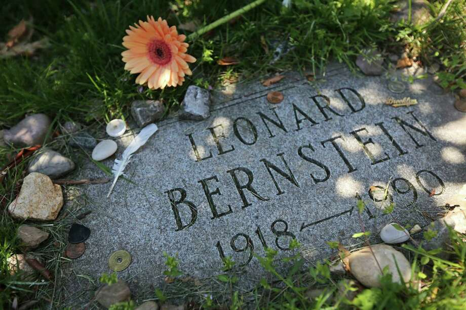This May 2, 2013 photo shows the grave marker of American composer and conductor Leonard Bernstein at Brooklyn's Green-Wood Cemetery in New York. The 478-acre site is celebrating its 175th anniversary this year and a special exhibition on Green-Wood is opening at the City Museum of New York.  While it cannot replace a visit to the cemetery grounds, it provides a historical context for one of only four U.S. cemeteries to be granted National Historic Landmark status. Photo: Mary Altaffer, AP / AP