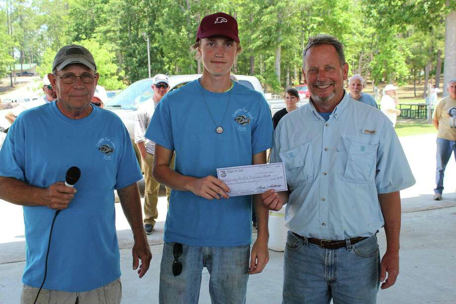 Father and Son team of Derek and Nicholas Hirsch won with a total weight of 9.80 lbs.   Photo by Paul Hayes