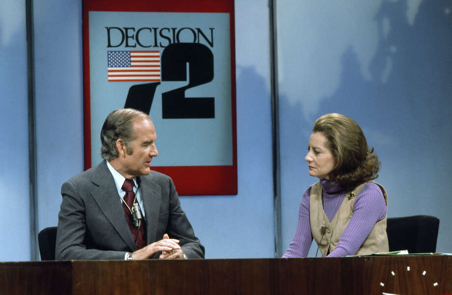 Presidential candidate Senator George McGovern, NBC News' Barbara Walters in 1972. Photo: NBC NewsWire, NBC NewsWire Via Getty Images / Getty 2013