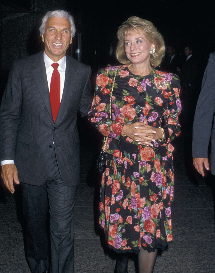 "Entertainment executive Merv Adelson and TV journalist Barbara Walters attend the 10th Anniversary Celebration of ""20/20"" on September 15, 1988 at the American Craft Museum in New York City. Photo: Ron Galella, WireImage / Getty 2013"