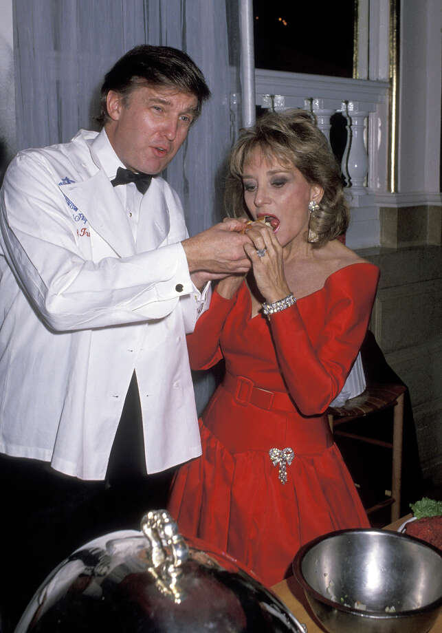 Donald Trump and Barbara Walters at the Plaza Hotel in New York City in 1989. Photo: Ron Galella, WireImage / Getty 2013