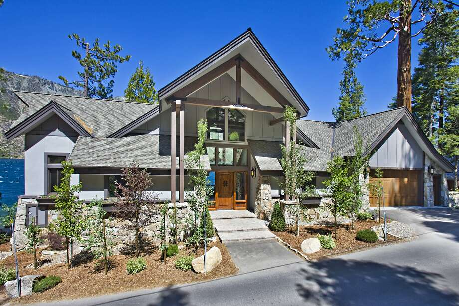 789 Fallen Leaf Lake Road is a four-bedroom home built in 2011. It provides direct access to Fallen Leaf Lake with 136 feet of lake frontage. Photo: Jarvis Photography