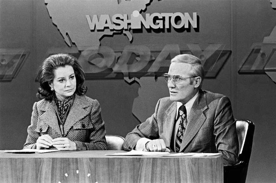"Barbara Walters, Frank McGee on NBC News' ""Today"" from Washington D.C. in 1973. Photo: NBC NewsWire, NBC NewsWire Via Getty Images / 2012 NBCUniversal, Inc."