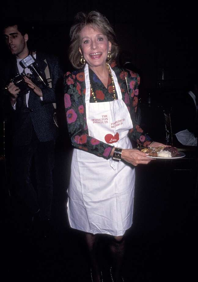 "TV journalist Barbara Walters attends the First Annual ""Sunday Night Kitchen Caper"" Dinner Party to Benefit the Irvington Institute for Medical Research on January 20, 1991 at the Four Seasons Restaurant in New York City. Photo: Ron Galella, Ltd., WireImage / 1991 Ron Galella, Ltd."