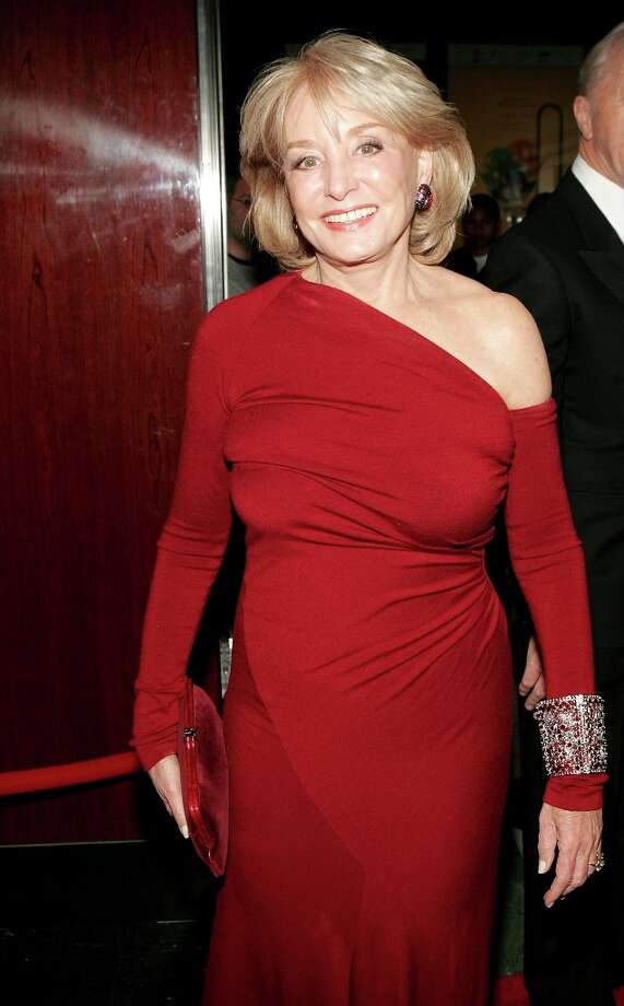 """Television news personality Barbara Walters arrives for Time Magazine Celebrates New """"Time 100"""" list of Most Influential People In The World on April 19, 2005, in New York City. Photo: Paul Hawthorne, Getty Images / 2005 Getty Images"""