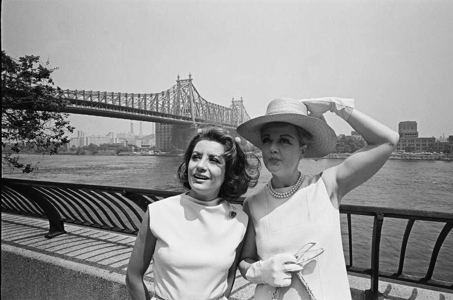 NBC News' Barbara Walters, actress Angela Lansbury in June 1966.