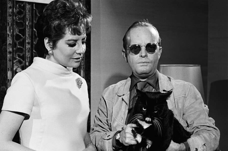 """Barbara Walters and writer Truman Capote on NBC News' """"Today"""" on December 14, 1967."""