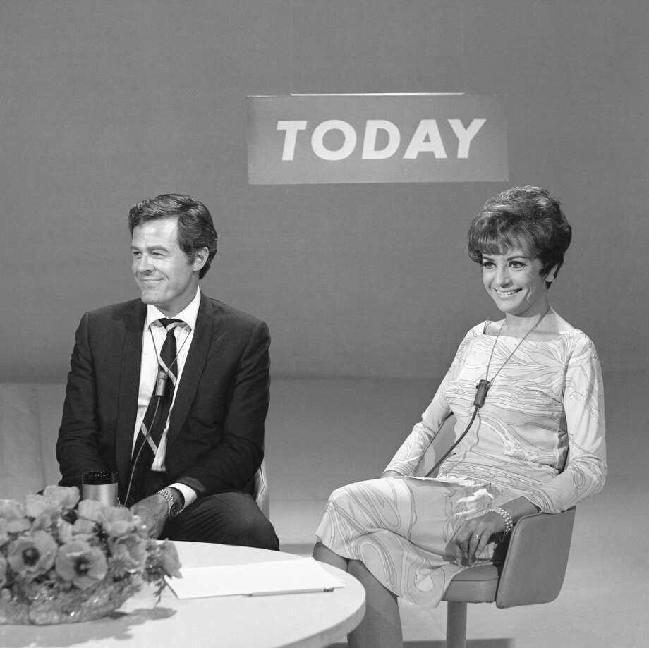 Actor Robert Culp, host Barbara Walters  in 1967.