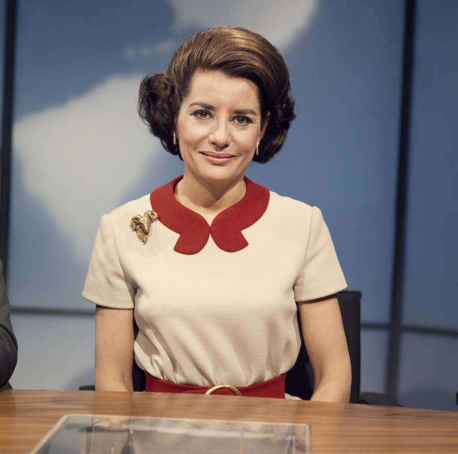 Barbara Walters on set in 1969.