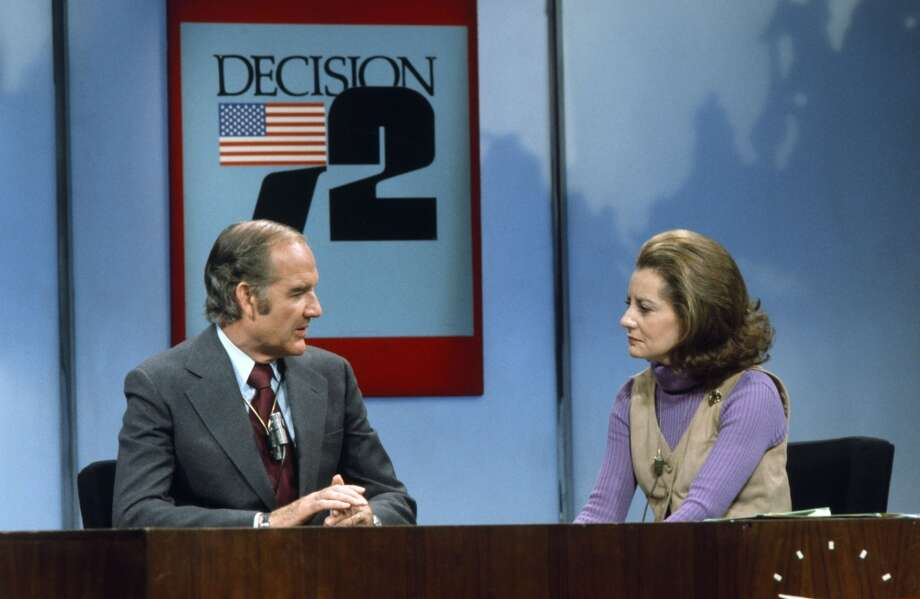 Presidential candidate Senator George McGovern, NBC News' Barbara Walters in 1972.