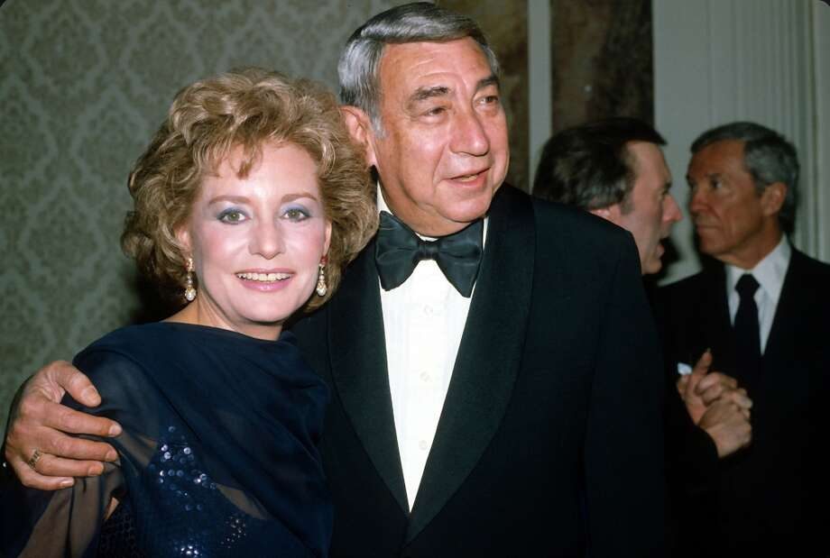 Barbara Walters and Howard Cosell pose for a picture at an ABC Network event March 23, 1983 in New York City.