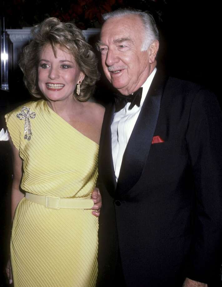 Journalist Barbara Walters and TV journalist Walter Cronkite attend the 11th Annual Lord & Taylor Rose Award Salute to Barbara Walters on November 19, 1986 at Lord & Taylor, Fifth Avenue in New York.