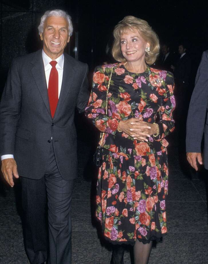 "Entertainment executive Merv Adelson and TV journalist Barbara Walters attend the 10th Anniversary Celebration of ""20/20"" on September 15, 1988 at the American Craft Museum in New York City."