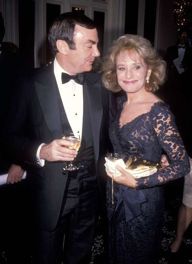 Journalist Sam Donaldson and TV journalist Barbara Walters attend the Variety Clubs International's Fourth Annual Variety Children's Lifeline Award Salute on January 22, 1990 at the Waldorf-Astoria Hotel in New York City.