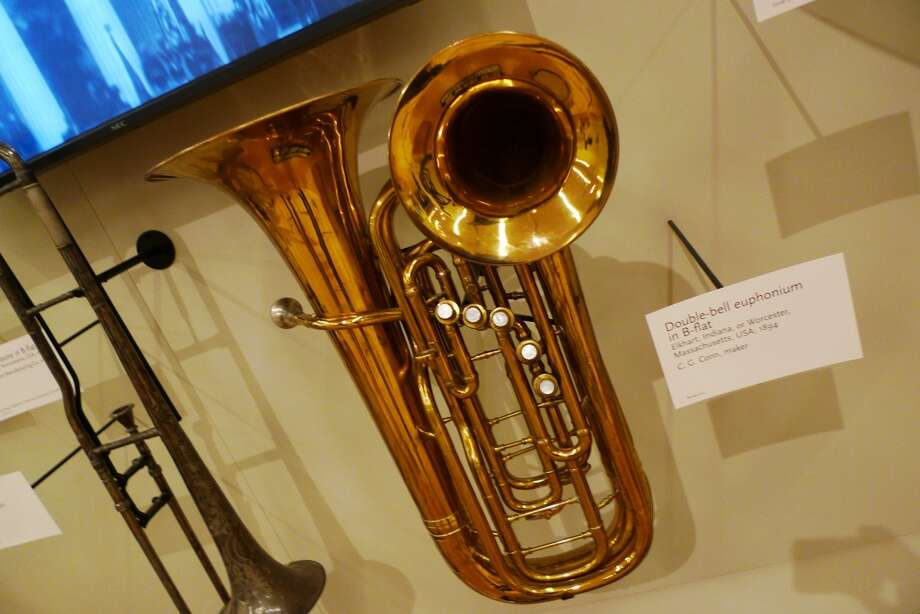 The museum includes plenty of rare instruments, including a double-belled euphonium.