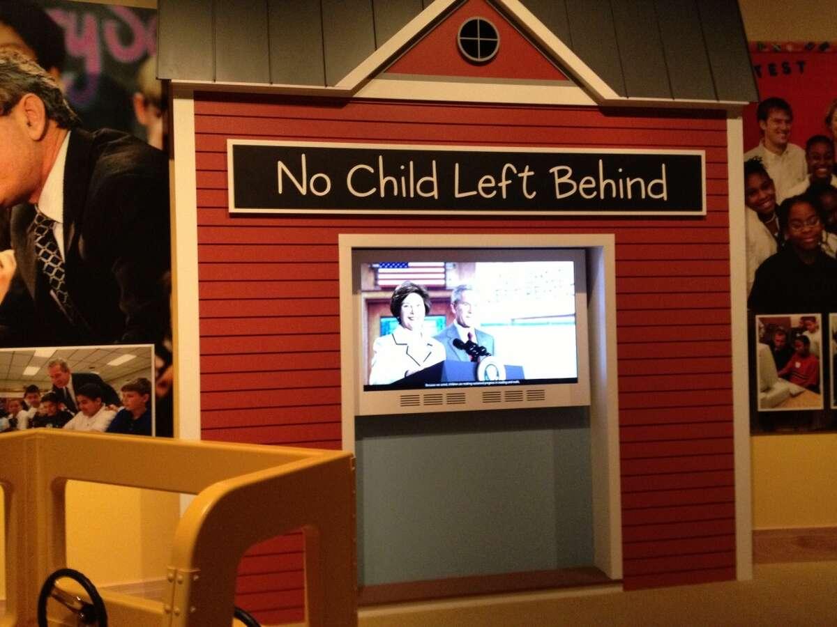 No Child Left Behind exhibit.