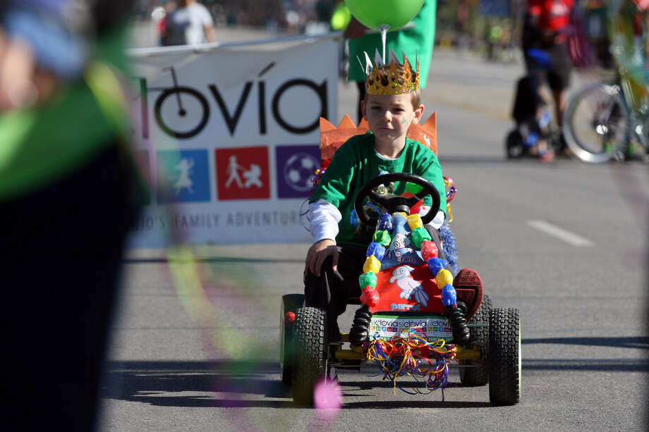 Travis Jorgensen, 7, gets ready to participate in last year's Síclovía. The noncompetitive event is held twice a year on Broadway. Photo: Express-News File Photo