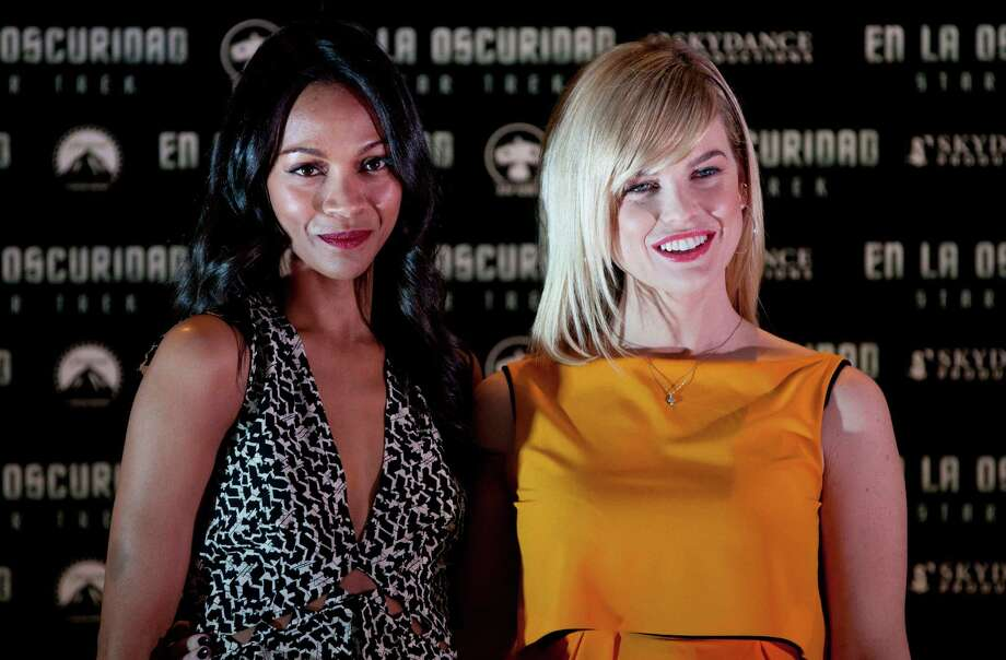Zoë Saldaña and Alice Eve are the latest leading ladies in Star Trek. Check out the present and past stars. Photo: Eduardo Verdugo, Associated Press / AP