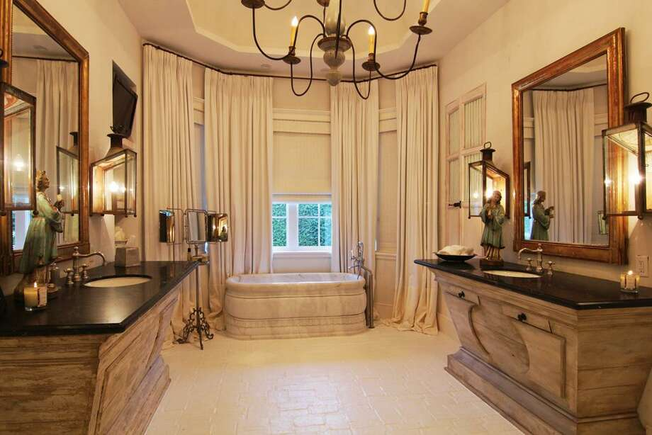Master Bath with marble soaking tub.