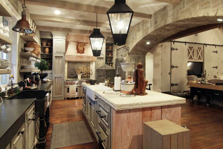 Fabulous kitchen with a mixture of antiques and state of the art modern conveniences.
