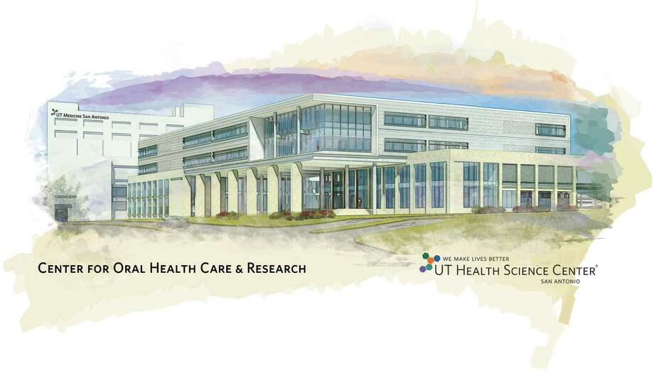 This is a drawing of the new Center for Oral Health Care & Research, a $95 million dental school facility of The University of Texas Health Science Center at San Antonio. Photo: Courtesy Illustration