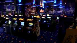"""A massive home arcade featured in Jeff Von Ward's """"The Space Invaders."""""""