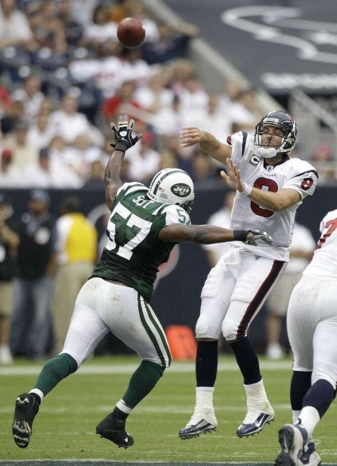 Bart Scott  Linebacker  Previous team: New York Jets  Status: Unrestricted Photo: Brett Coomer , Chronicle