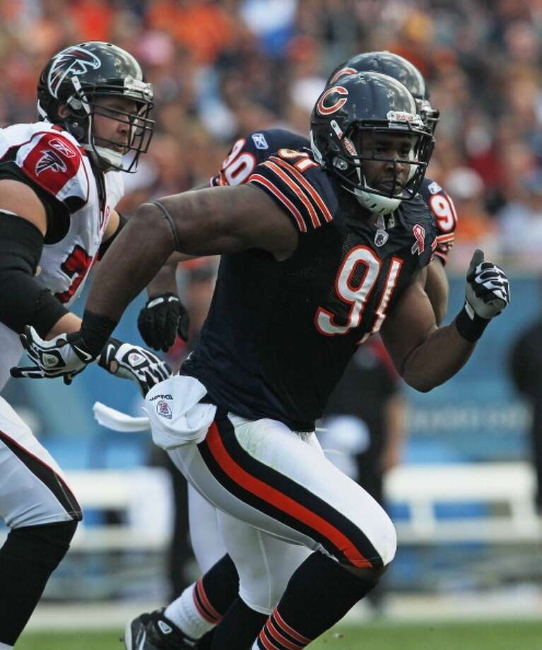 Amobi Okoye  Defensive tackle  Previous team: Chicago Bears  Status: Unrestricted Photo: Jonathan Daniel, Getty Images