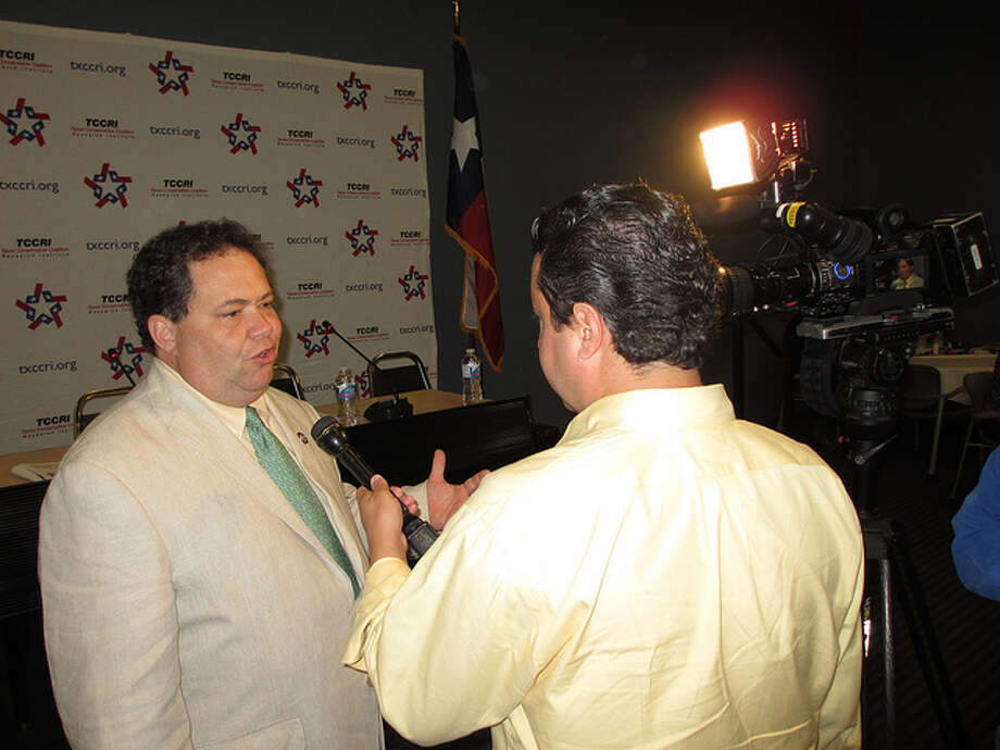 Rep. Blake Farenthold speaks at a summit on Texas conservative coalition energy on September 6, 2012.