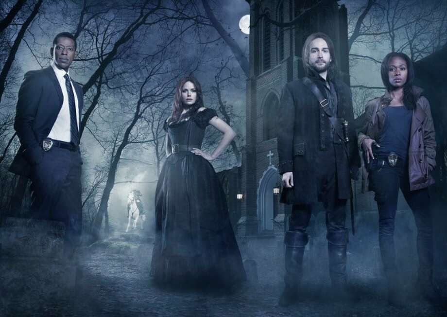 SLEEPY HOLLOW - From co-creators/executive producers Alex Kurtzman and Roberto Orci  comes the adventure thriller SLEEPY HOLLOW. In this modern-day retelling of Washington Irving's classic, ICHABOD CRANE (Tom Mison, third from L) is resurrected and pulled two and a half centuries through time to find that the world is on the brink of destruction and that he is humanity's last hope, forcing him to team up with a contemporary police officer (Nicole Beharie, R) to unravel a mystery that dates back to the founding fathers. The adventure thriller SLEEPY HOLLOW premieres this fall on FOX. Also pictured L-R: Orlando Jones and Katia Winter. ©2013 Fox Broadcasting Co. CR: Michael Lavine/FOX / 1