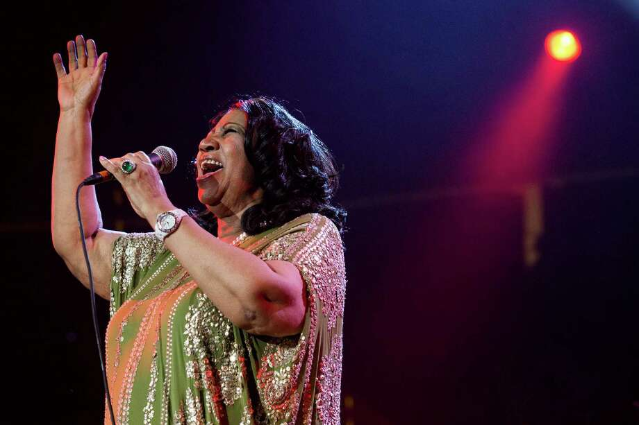 In this Saturday, May 11, 2013 photo, Aretha Franklin performs during McDonald's Gospelfest 2013 at the Prudential Center in Newark, N.J.  Franklin has canceled performances in Chicago on May 20 and Connecticut on May 26 under a doctor's recommendation for treatment. It's unclear what she's being treated for.  (Photo by Charles Sykes/Invision/AP, File) Photo: Charles Sykes