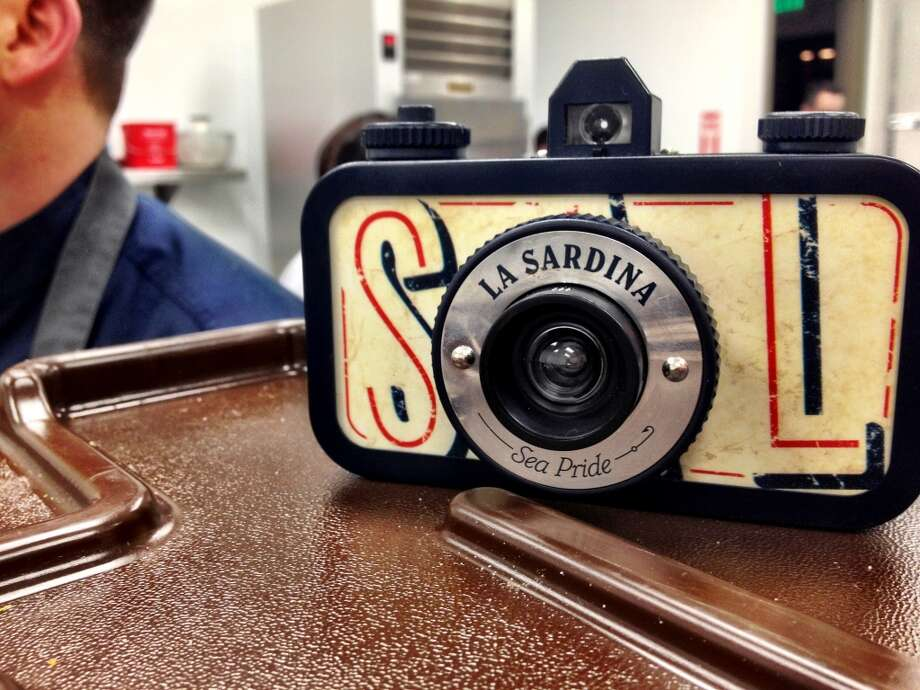William Werner's old fashioned film camera.