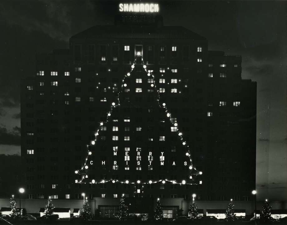 December 1950 - The Shamrock Hotel gets into the Christmas spirit.