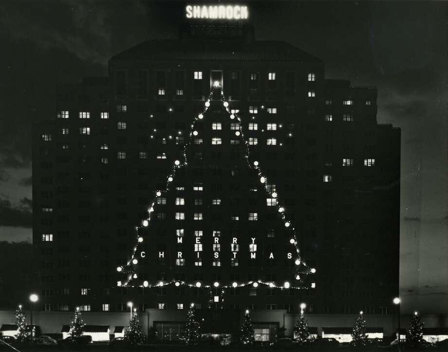 Dec. 1950 - Shamrock Hilton Christmas tree lighting