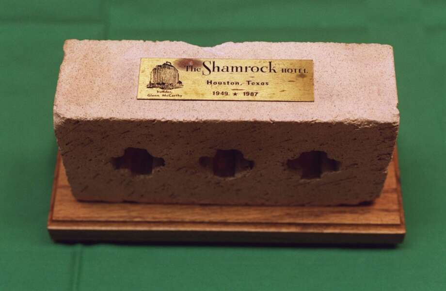 03/17/1999 -- A brick from the Shamrock Hotel.