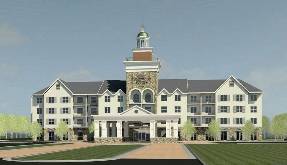 Rendering of proposed Homewood Suites hotel in Saratoga Springs, N.Y. (Courtesy Mike Hoffman)