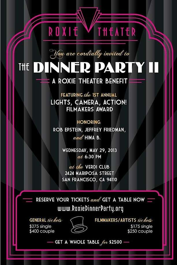 The Roxie Theater holds its second dinner party benefit May 29 at the Verdi Club in San Francisco. Photo: Roxie Theater