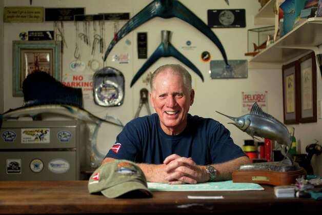 Jack Duvall, of Kemah, is a board member of the Billfish Foundation.  The Billfish Foundation has a mission of conserving billfish worldwide. Photo: Johnny Hanson, Houston Chronicle / © 2013  Houston Chronicle