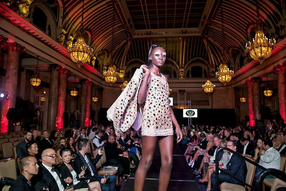 Designer Bacca da Silva's lavish looks captivated the runway. Photo: Herm Pugay