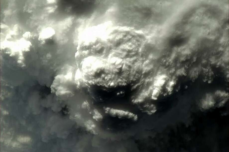 A thunderstorm -- from above. (Chris Hadfield/NASA)