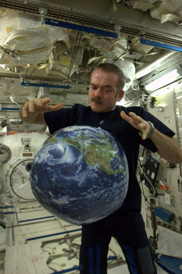 """There is no try - only do. May the 4th be with you,"" he wrote. You can see why he's a star. (Chris Hadfield/NASA)"