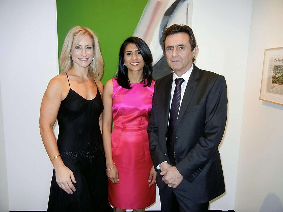 Modern Art Council President Joni Binder Shwarts (left) with Art Auction chairwoman Alka Agrawal and SFMOMA Director Neal Benezra at the museum. April 2013. By Catherine Bigelow