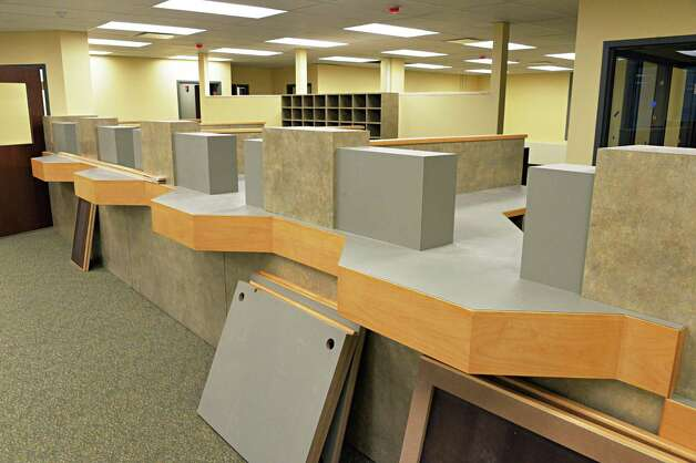 New DMV counter under construction at the Schoharie County office building in Schoharie, NY Wednesday May 8, 2013.   (John Carl D'Annibale / Times Union) Photo: John Carl D'Annibale