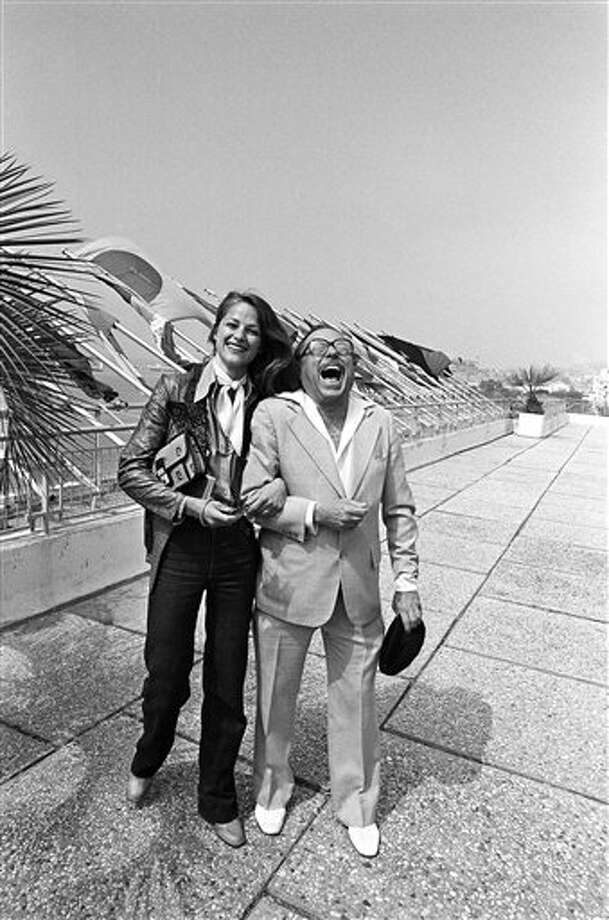 Actress Charlotte Rampling and American playwright Tennessee Williams share a joke in Cannes on May 13, 1976, where they are both members of the Jury of the Cannes International Film Festival. Photo: Jean Jacques Levy, ASSOCIATED PRESS / AP1976